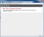 Ошибка страницы Default.aspx