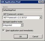 Пул приложение узла по умолчанию с Asp.Net v2.0