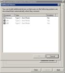 Выбор дополнтельных драйверов на Windows 7