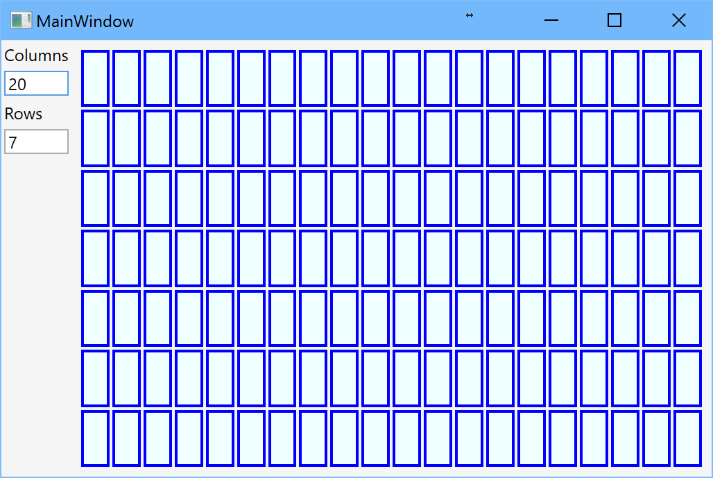 Grid with dynamic number of rows and columns, part 1 – I