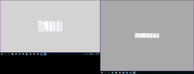 Text size 100% and 100% after remote session