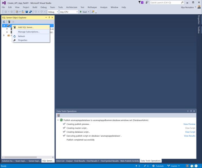 Add SQL Server