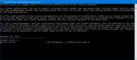 Installing platform-tools